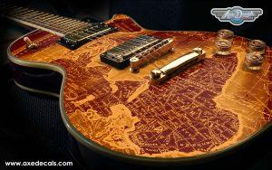 Old Map Guitar Wrap Skin