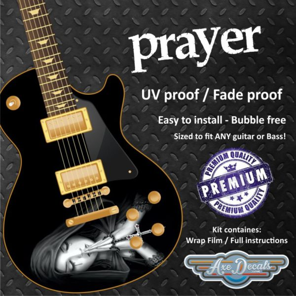 Prayer Guitar Wrap Skin