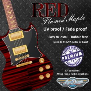 Red Flame Maple Guitar Wrap Skin