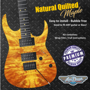 Natural Quilted Maple Guitar Wrap Skin