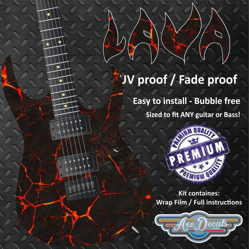 Lava Guitar Wrap Skin