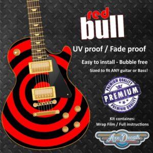 Red Bull Guitar Wrap Skin