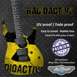 Radioactive Guitar Wrap Skin