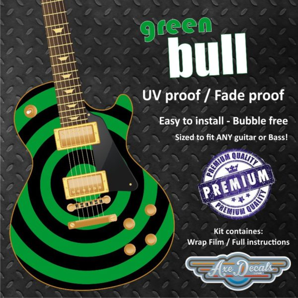 Green Bull Guitar Wrap Skin
