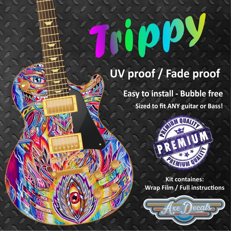 Trippy Guitar Wrap Skin