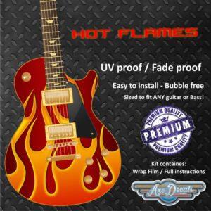 Hot Flames Guitar Wrap Skin