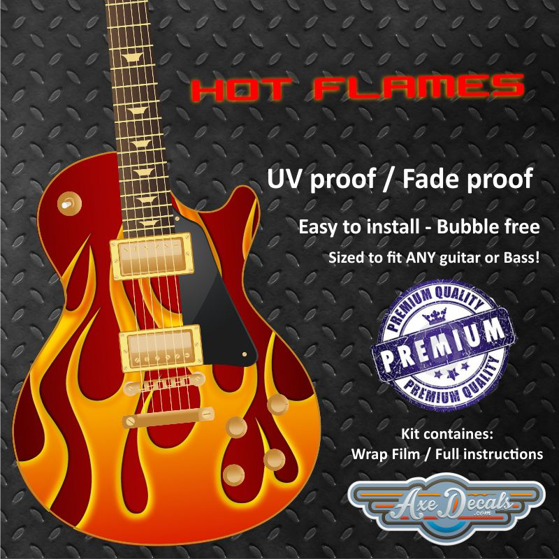 Hot Flames Guitar Wrap Skin