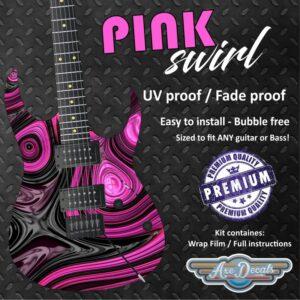 Pink Swirl Guitar Wrap Skin