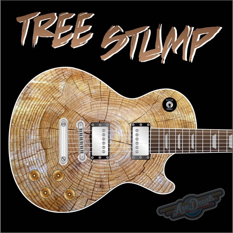 Tree Stump Guitar Wrap Skin