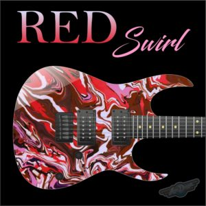 Red Swirl Guitar Wrap Skin