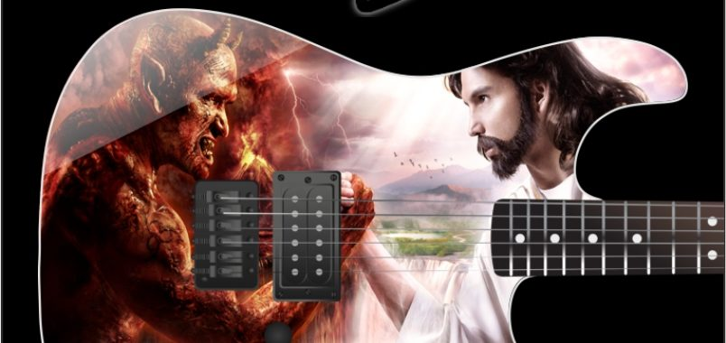 Good vs Evil Guitar Wrap Skin