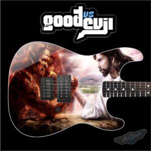 Good vs Evil Guitar Wrap Skin