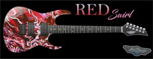Red Swirl Guitar Wrap Skin