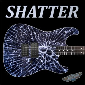 Shatter Guitar Wrap Skin