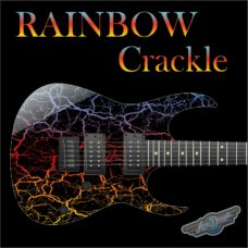 Rainbow Crackle Guitar Wrap Skin