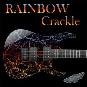 Rainbow Crackle Guitar Wrap Skin