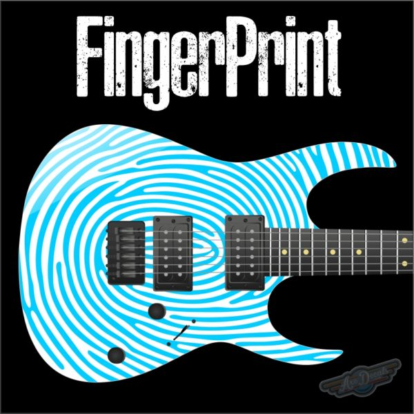 Finger Print Guitar Wrap Skin